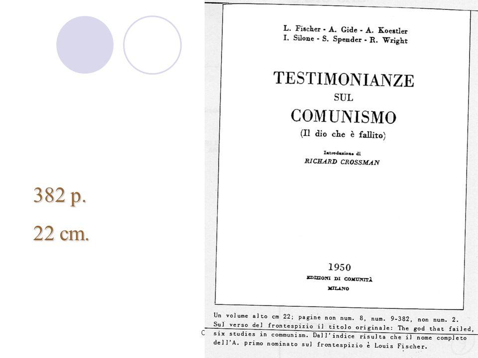 382 p. 22 cm. Corso Rica - nov-dic 2007