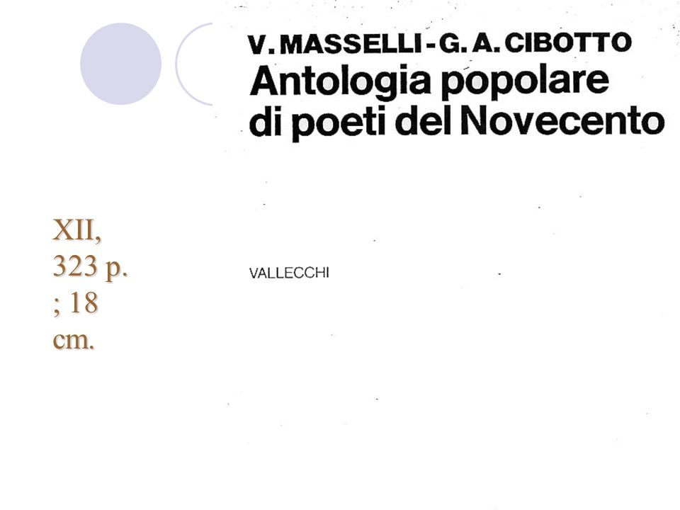 XII, 323 p. ; 18 cm. Corso Rica - nov-dic 2007