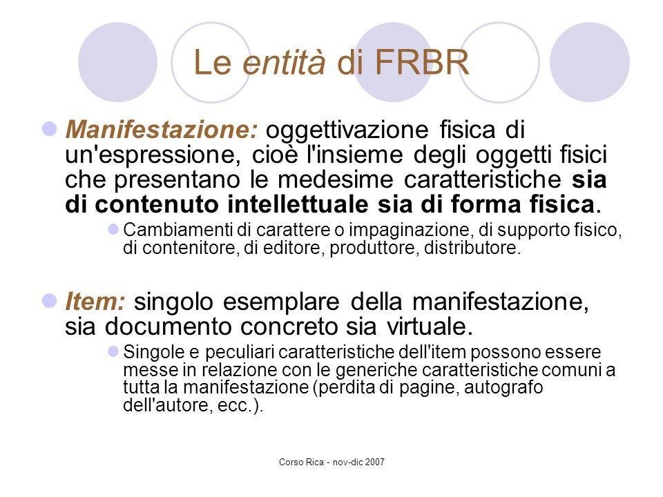 Le entità di FRBR