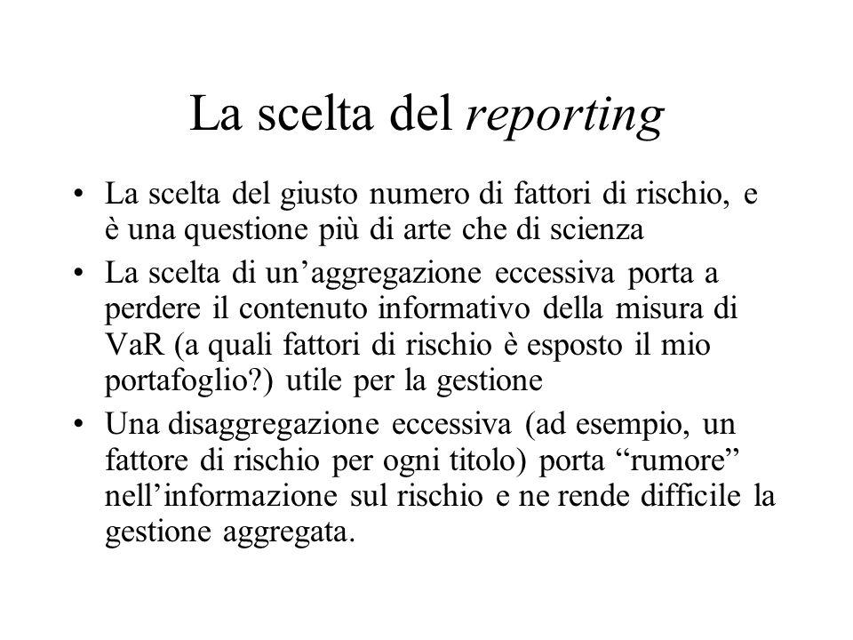 La scelta del reporting
