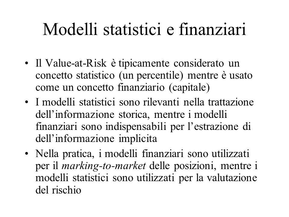 Modelli statistici e finanziari