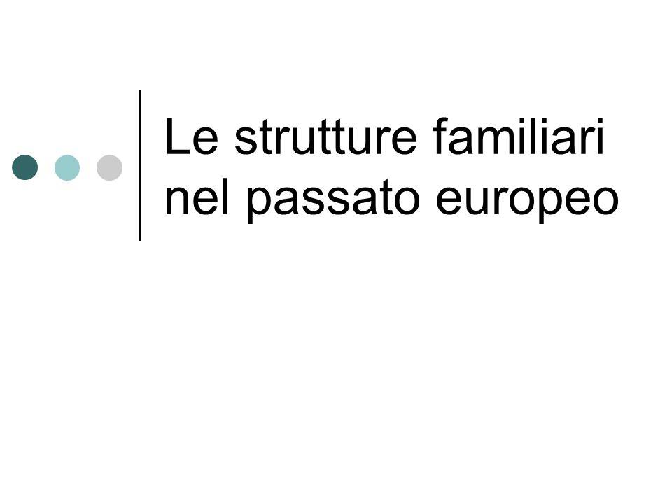 Le strutture familiari nel passato europeo