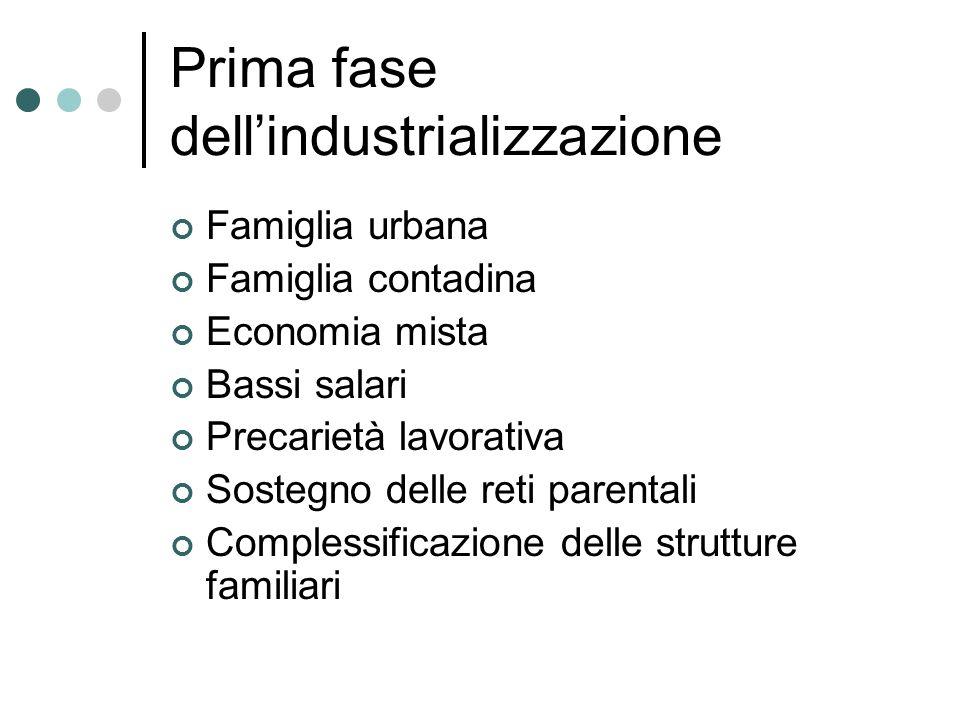 Prima fase dell'industrializzazione