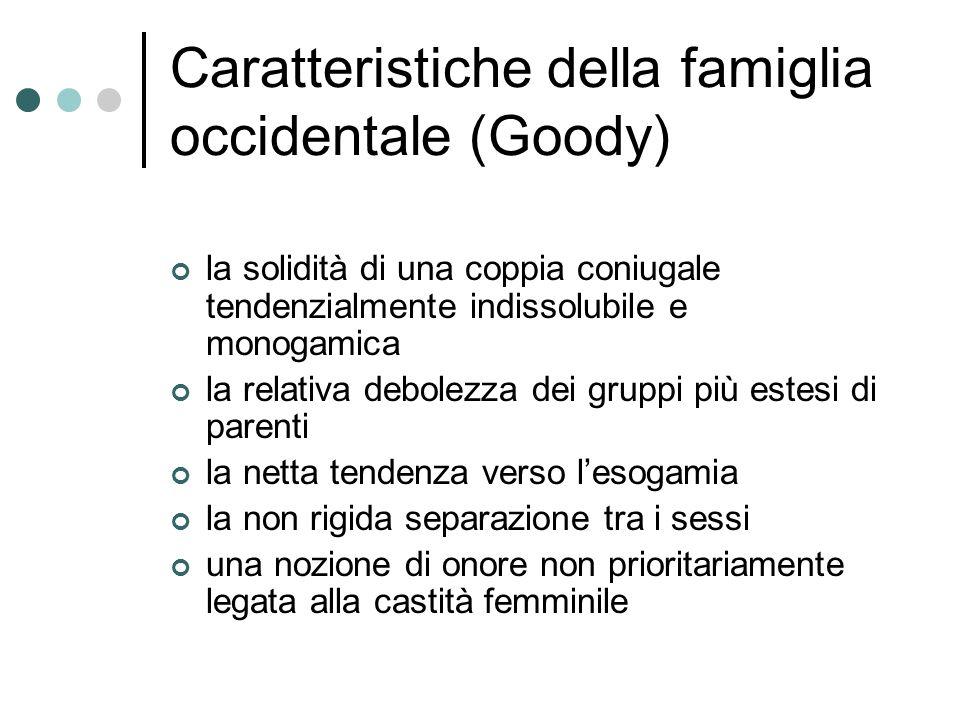 Caratteristiche della famiglia occidentale (Goody)