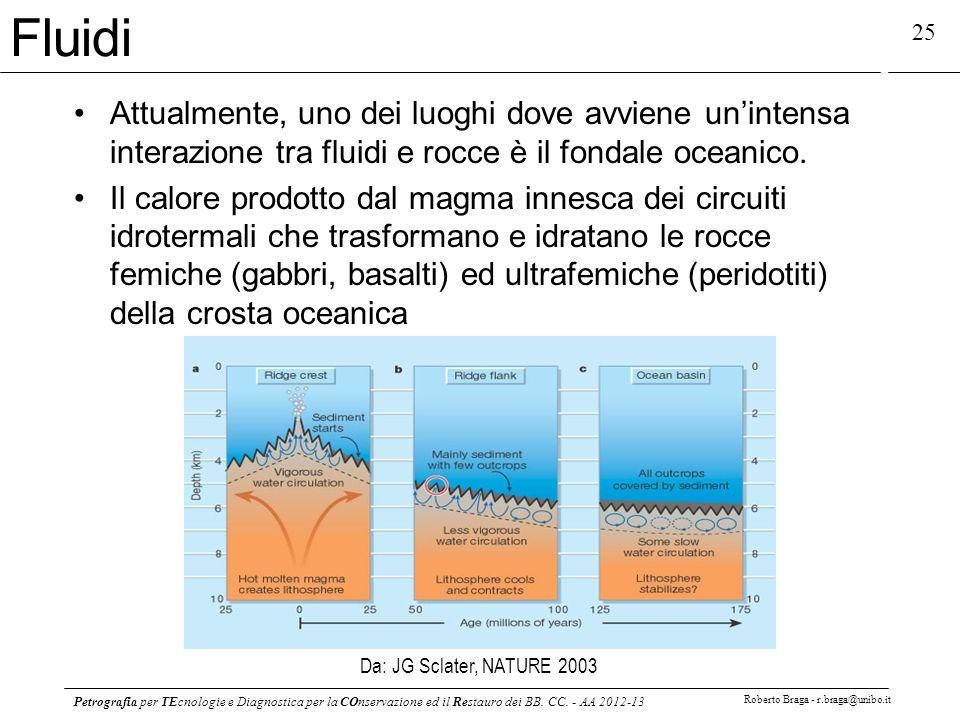 Fluidi Attualmente, uno dei luoghi dove avviene un'intensa interazione tra fluidi e rocce è il fondale oceanico.