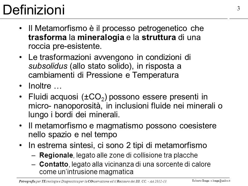 Definizioni Il Metamorfismo è il processo petrogenetico che trasforma la mineralogia e la struttura di una roccia pre-esistente.