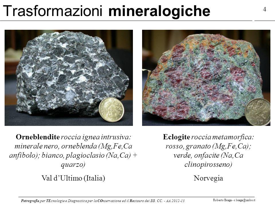 Trasformazioni mineralogiche