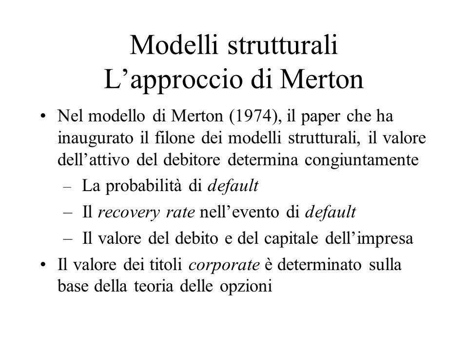 Modelli strutturali L'approccio di Merton