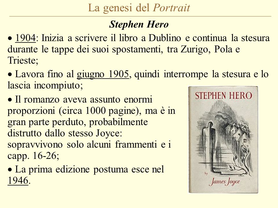 La genesi del Portrait Stephen Hero