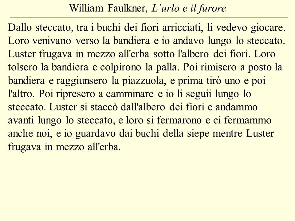 William Faulkner, L'urlo e il furore