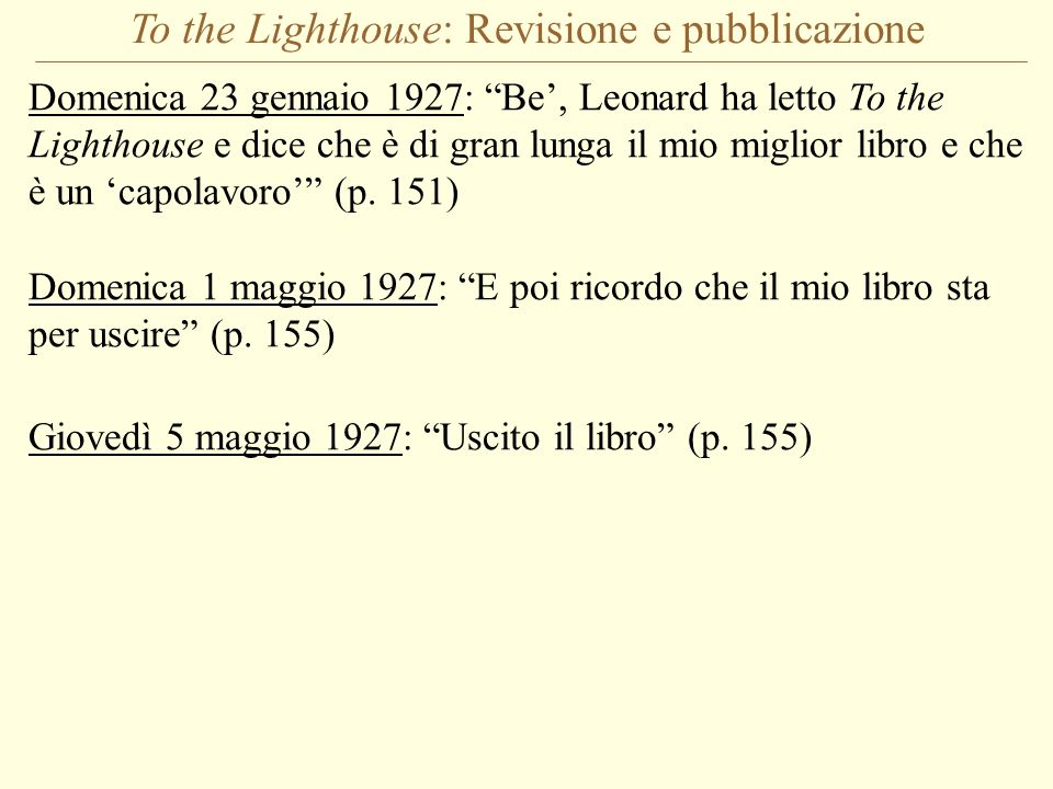 To the Lighthouse: Revisione e pubblicazione