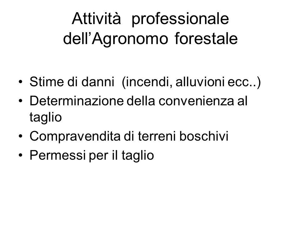 Attività professionale dell'Agronomo forestale