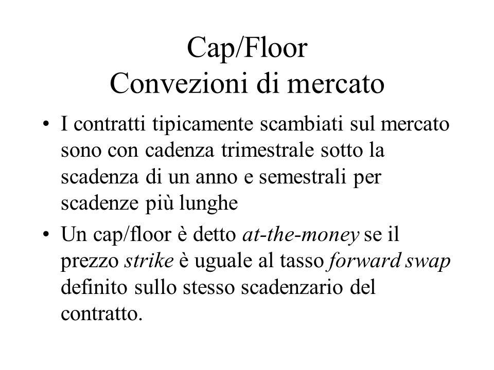 Cap/Floor Convezioni di mercato