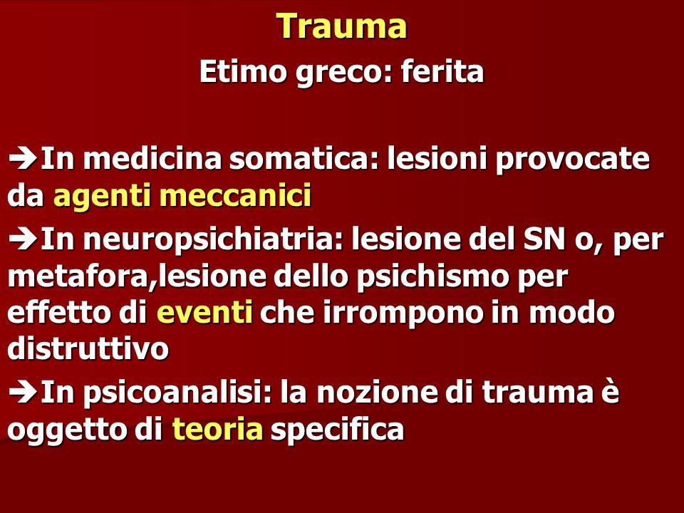 Trauma Etimo greco: ferita