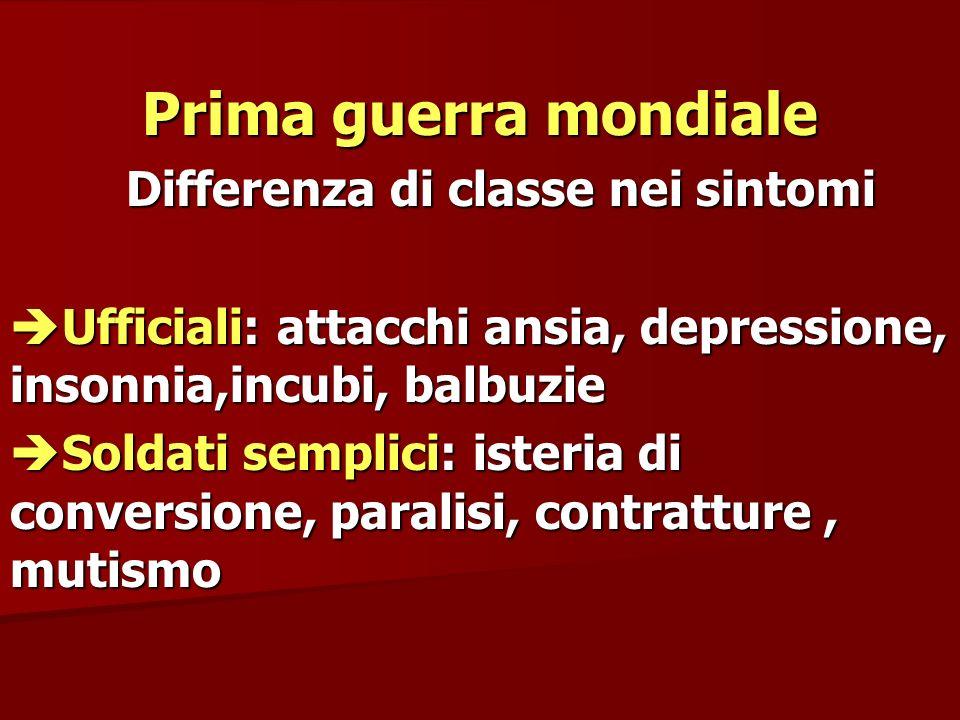 Differenza di classe nei sintomi