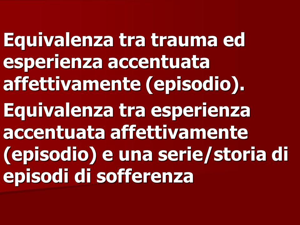 Equivalenza tra trauma ed esperienza accentuata affettivamente (episodio).