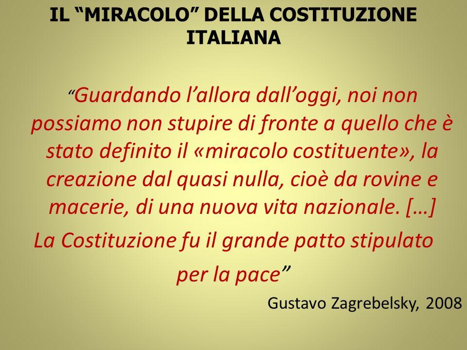 IL MIRACOLO DELLA COSTITUZIONE ITALIANA