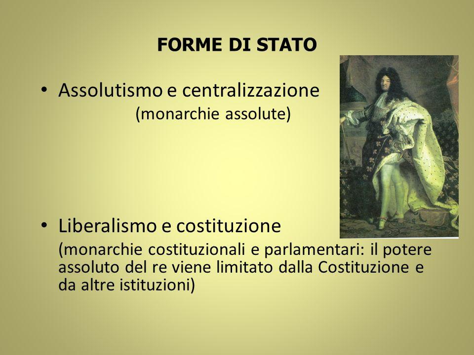 Assolutismo e centralizzazione