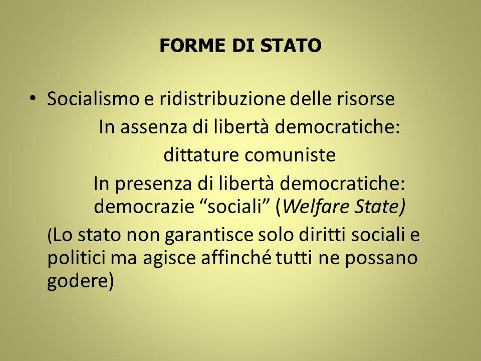 In assenza di libertà democratiche:
