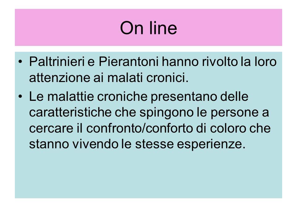 On linePaltrinieri e Pierantoni hanno rivolto la loro attenzione ai malati cronici.