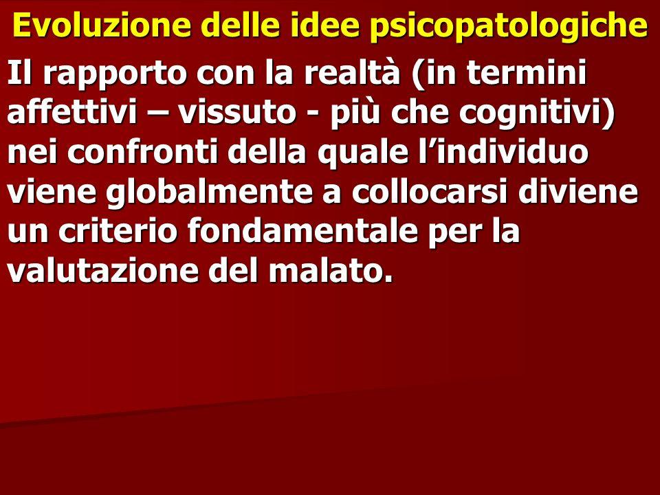 Evoluzione delle idee psicopatologiche
