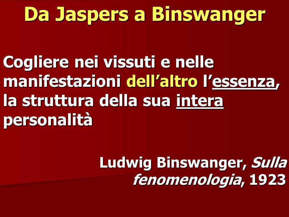 Da Jaspers a Binswanger