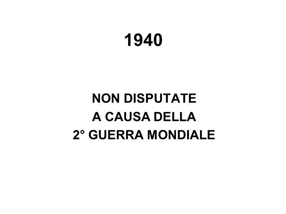 1940 NON DISPUTATE A CAUSA DELLA 2° GUERRA MONDIALE