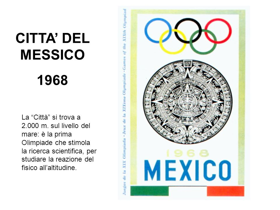 CITTA' DEL MESSICO 1968.