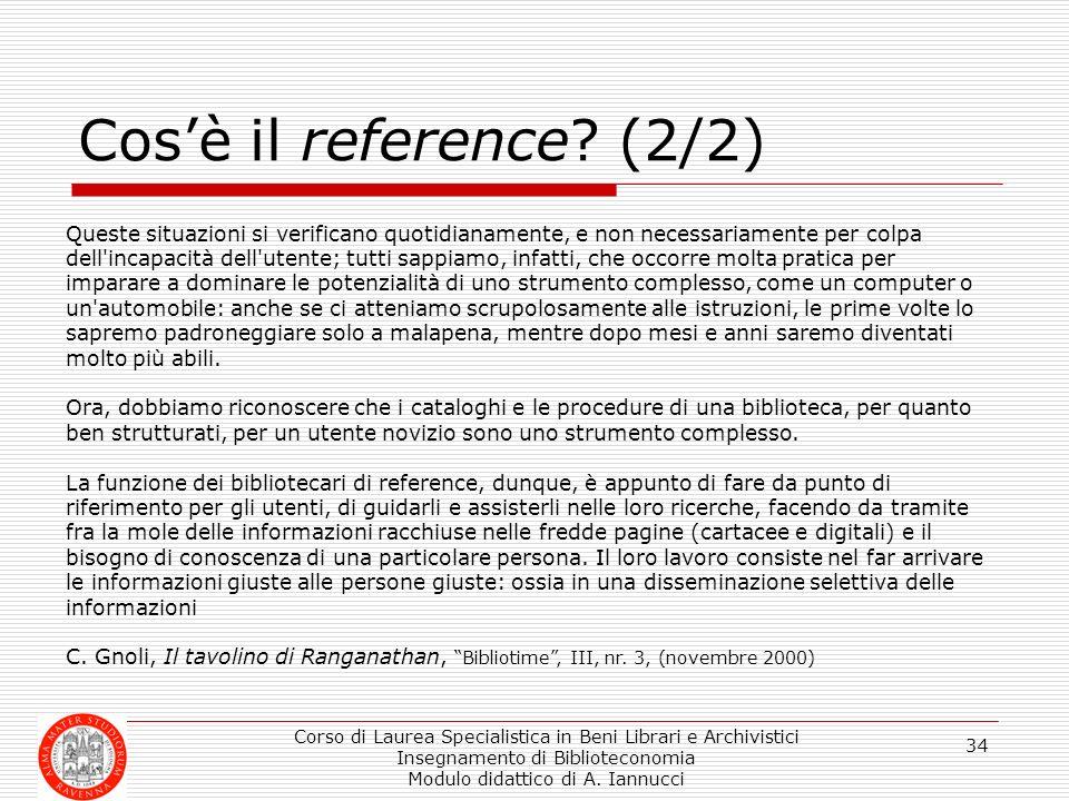 Cos'è il reference (2/2)
