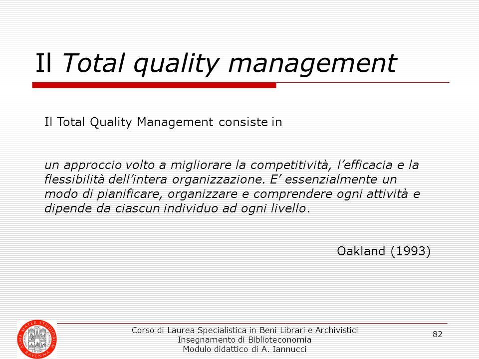 Il Total quality management