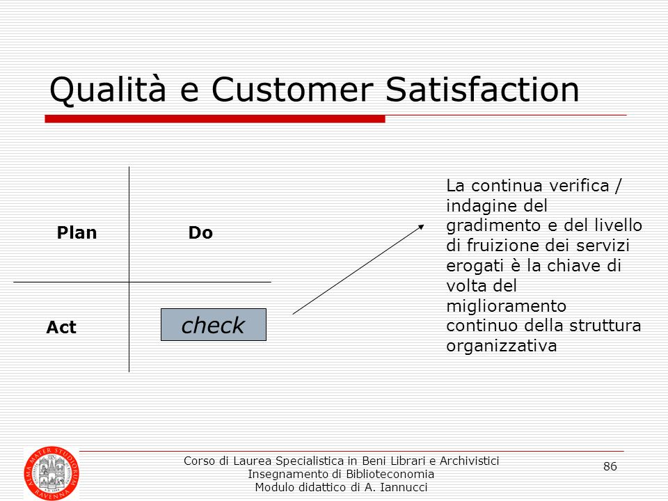 Qualità e Customer Satisfaction