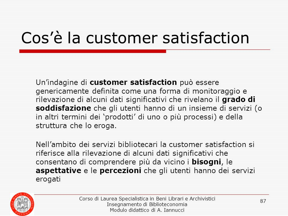 Cos'è la customer satisfaction