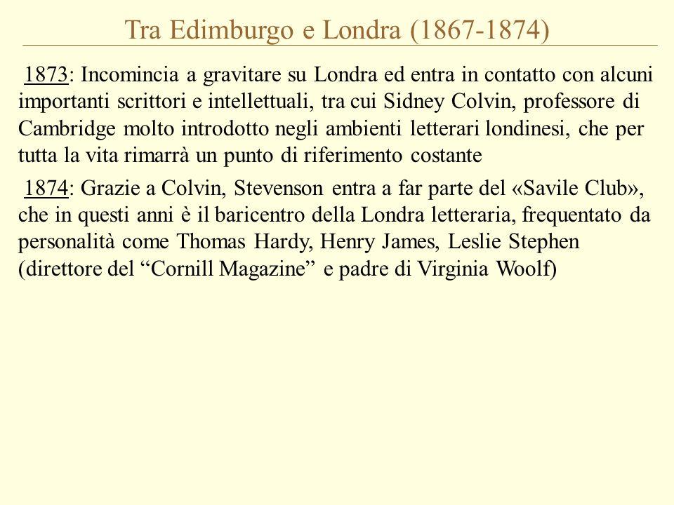 Tra Edimburgo e Londra (1867-1874)