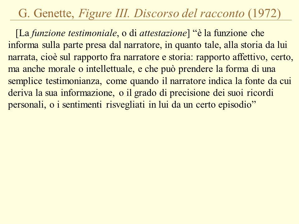 G. Genette, Figure III. Discorso del racconto (1972)