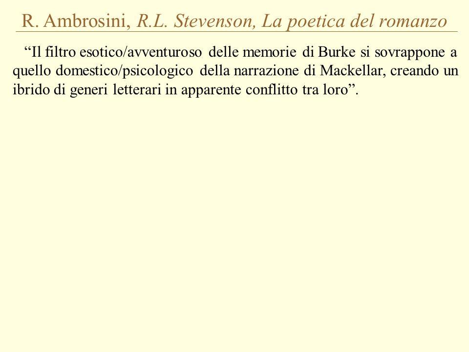 R. Ambrosini, R.L. Stevenson, La poetica del romanzo