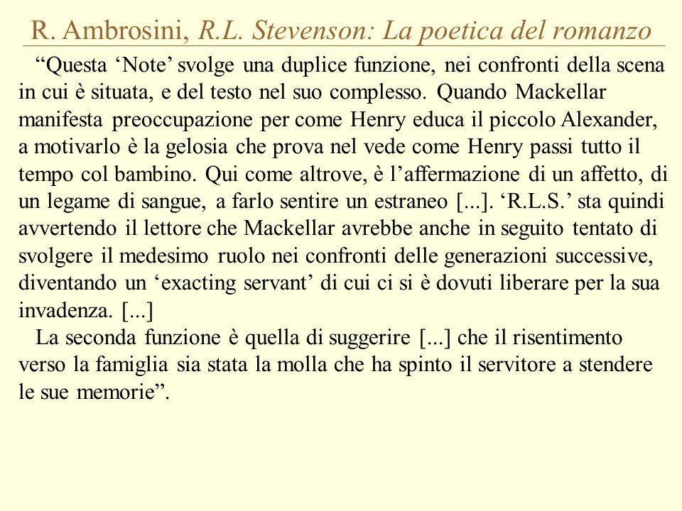 R. Ambrosini, R.L. Stevenson: La poetica del romanzo