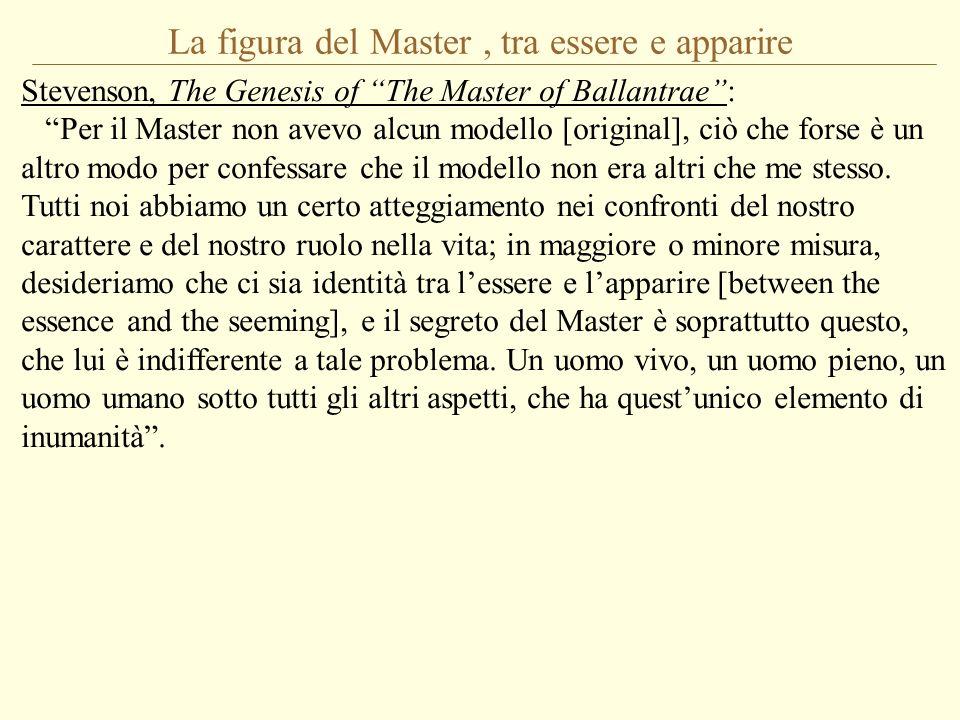 La figura del Master , tra essere e apparire