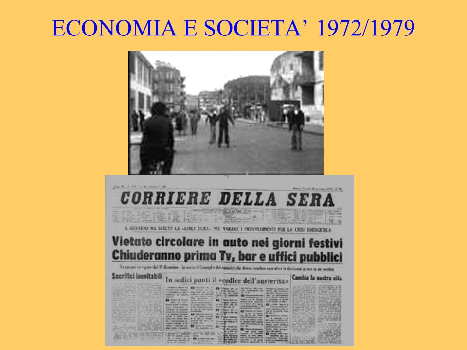 ECONOMIA E SOCIETA' 1972/1979