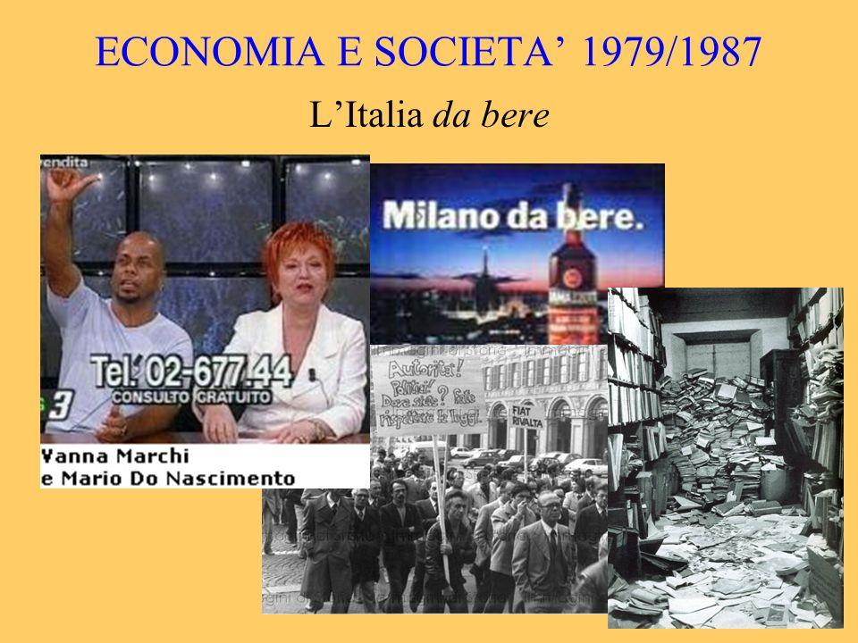 ECONOMIA E SOCIETA' 1979/1987 L'Italia da bere