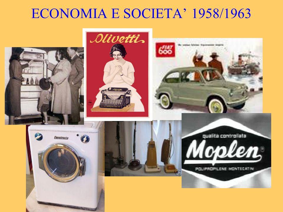 ECONOMIA E SOCIETA' 1958/1963
