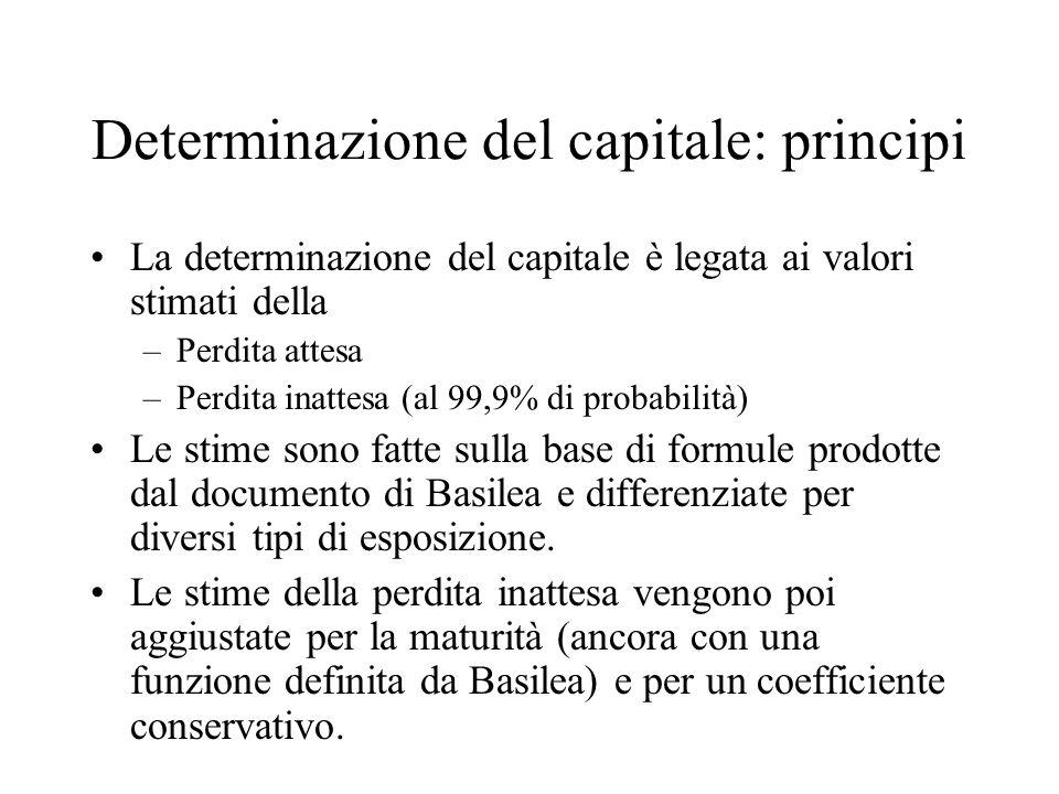Determinazione del capitale: principi