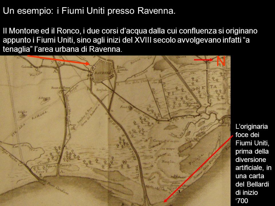 N Un esempio: i Fiumi Uniti presso Ravenna.