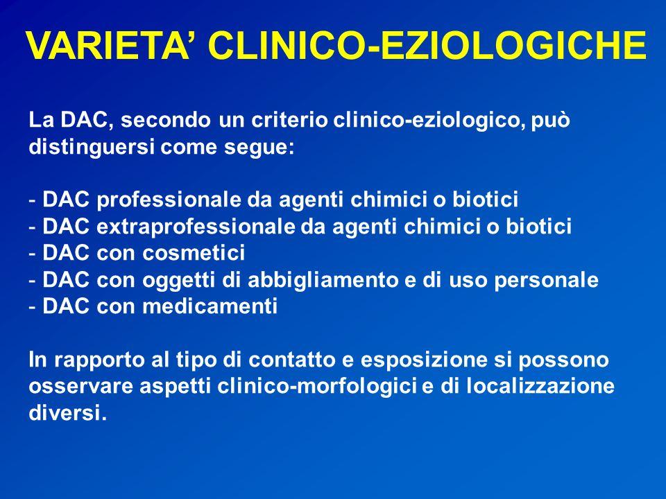 VARIETA' CLINICO-EZIOLOGICHE