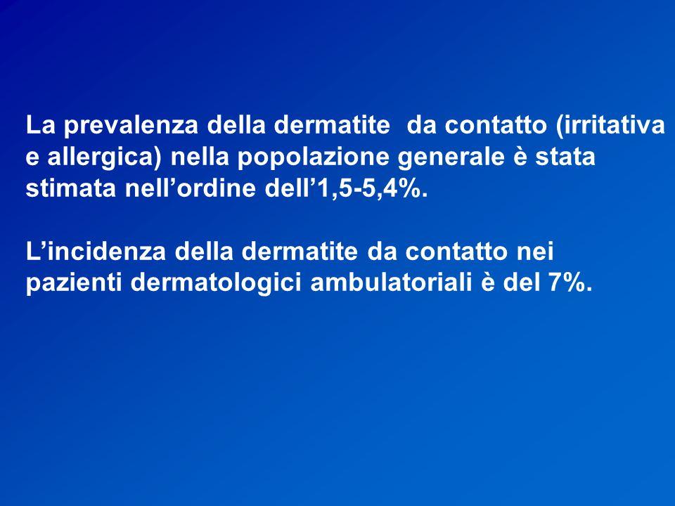 La prevalenza della dermatite da contatto (irritativa