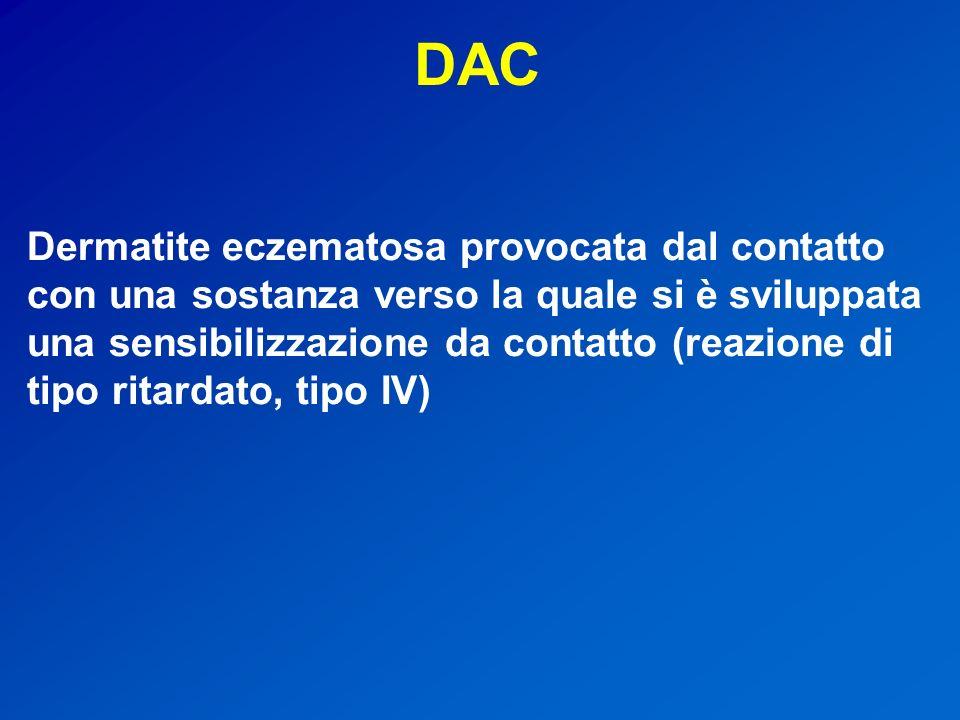DAC Dermatite eczematosa provocata dal contatto