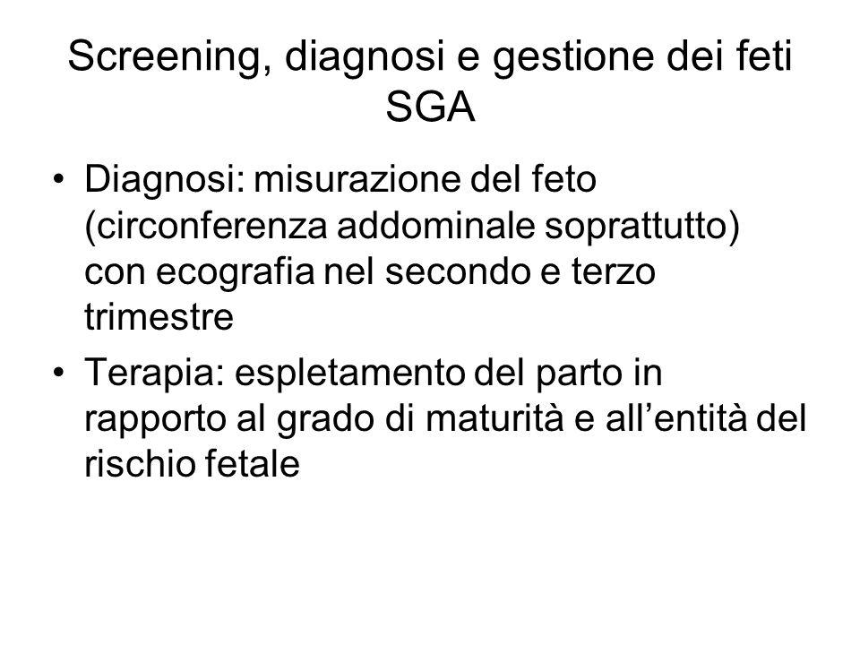 Screening, diagnosi e gestione dei feti SGA