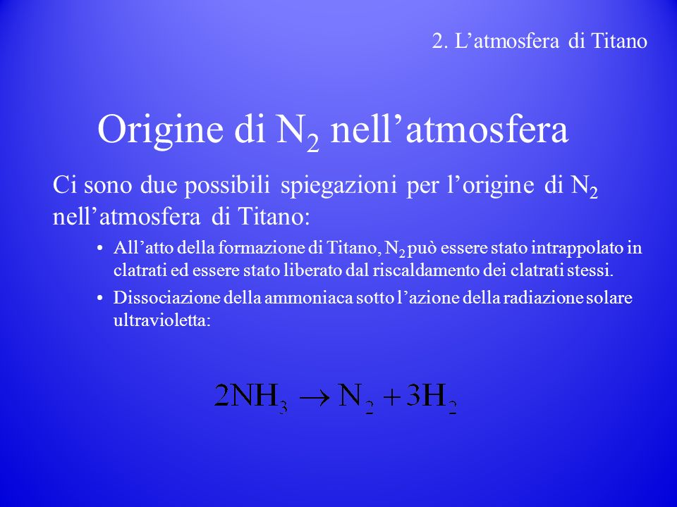 Origine di N2 nell'atmosfera