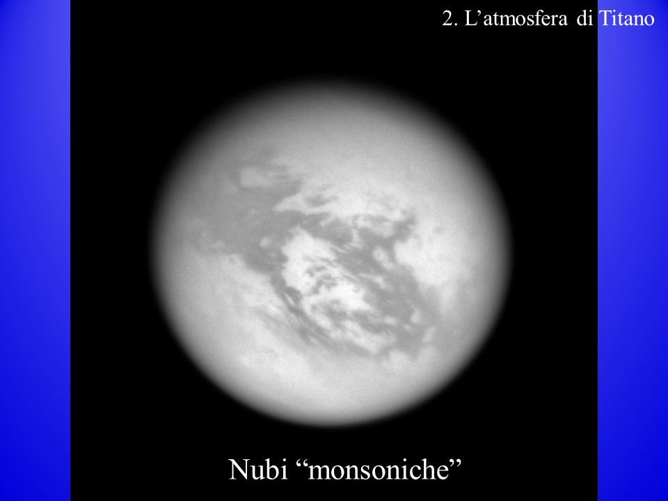 2. L'atmosfera di Titano Nubi monsoniche 28 28 28