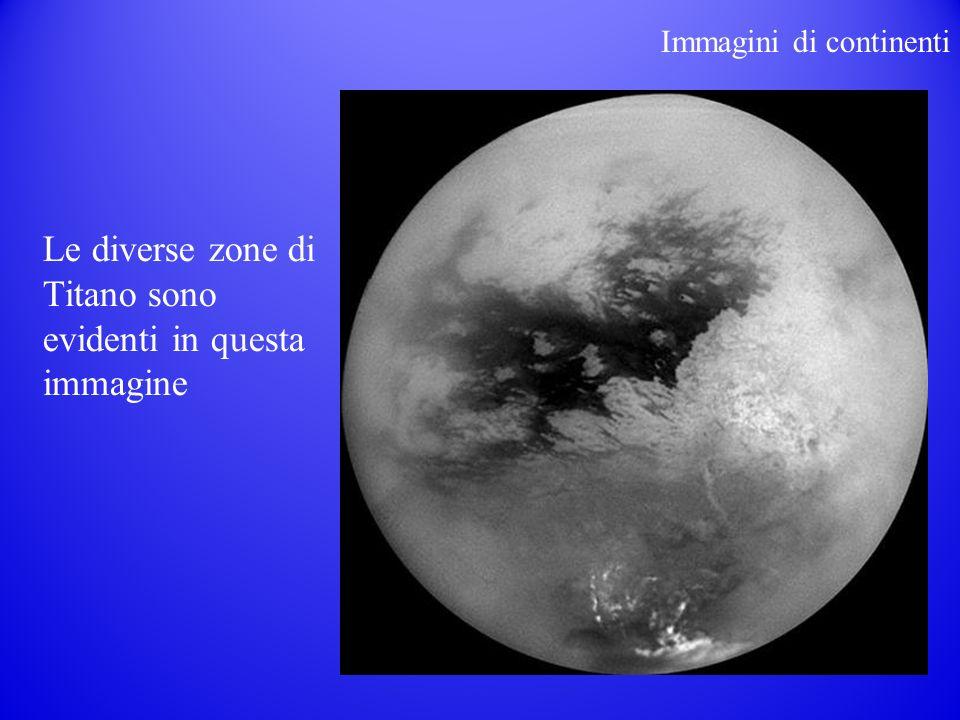Le diverse zone di Titano sono evidenti in questa immagine