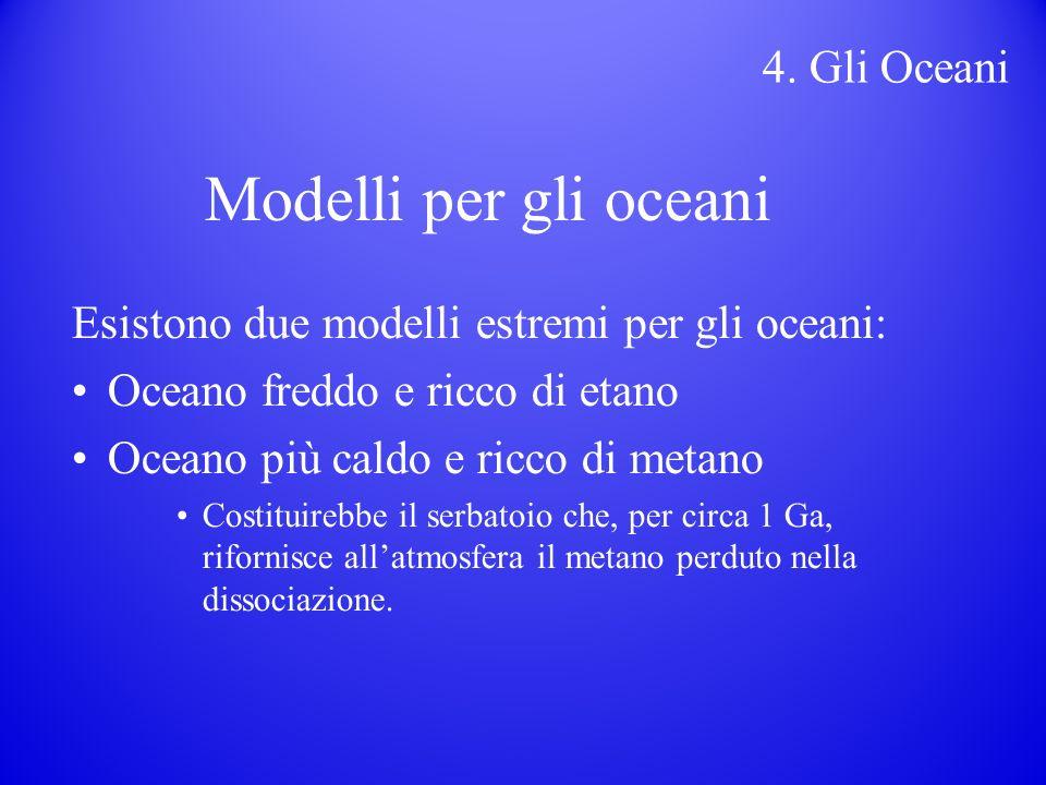 Modelli per gli oceani 4. Gli Oceani